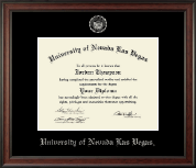 University of Nevada Las Vegas Diploma Frame - Silver Embossed Diploma Frame in Studio