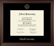 Alfred University Diploma Frame - Gold Embossed Diploma Frame in Studio