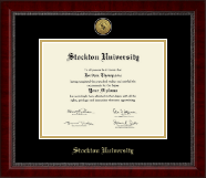 Stockton University Diploma Frame - Gold Engraved Medallion Diploma Frame in Sutton