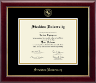 Stockton University Diploma Frame - Gold Embossed Diploma Frame in Gallery