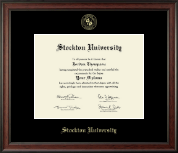 Stockton University Diploma Frame - Gold Embossed Diploma Frame in Studio