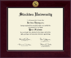 Stockton University Diploma Frame - Century Gold Engraved Diploma Frame in Cordova