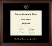 Hawkeye Community College Diploma Frame - 8'x10'- Gold Embossed Diploma Frame in Studio