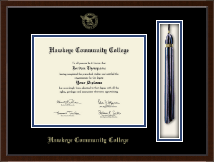 Hawkeye Community College Diploma Frame - 8'x10'- Tassel Edition Diploma Frame in Delta