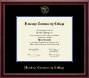 Hawkeye Community College Diploma Frame - 8'x10'-Gold Embossed Diploma Frame in Galleria