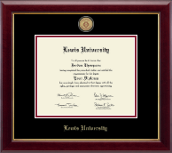Lewis University Diploma Frame - Masterpiece Medallion Diploma Frame in Gallery