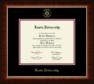 Lewis University Diploma Frame - Gold Embossed Diploma Frame in Murano