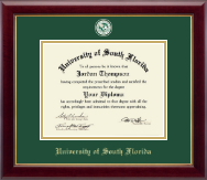 University of South Florida Health Sciences Diploma Frame - Masterpiece Medallion Diploma Frame in Gallery