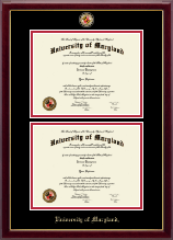 University of Maryland, College Park Diploma Frame - Masterpiece Medallion Double Diploma Frame in Gallery