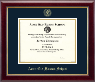 Avon Old Farms School in Connecticut Diploma Frame - Gold Embossed Diploma Frame in Gallery