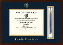 Avon Old Farms School in Connecticut Diploma Frame - Tassel Edition Diploma Frame in Delta