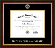 Certified Financial Planner Certificate Frame - Gold Engraved Medallion Certificate Frame in Murano