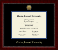 Clarks Summit University Diploma Frame - Gold Engraved Medallion Diploma Frame in Sutton