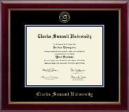 Clarks Summit University Diploma Frame - Gold Embossed Diploma Frame in Gallery