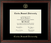 Clarks Summit University Diploma Frame - Gold Embossed Diploma Frame in Studio