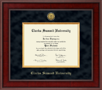 Clarks Summit University Diploma Frame - Presidential Gold Engraved Diploma Frame in Jefferson