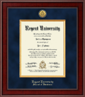 Regent University Diploma Frame - Presidential Gold Engraved Diploma Frame in Jefferson