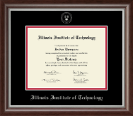 Illinois Institute of Technology Diploma Frame - Silver Embossed Diploma Frame in Devonshire