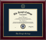 The King's College in New York City Diploma Frame - Gold Embossed Diploma Frame in Gallery