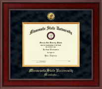 Minnesota State University, Mankato Diploma Frame - Presidential Gold Engraved Diploma Frame in Jefferson