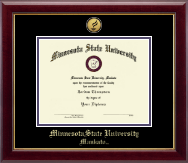 Minnesota State University, Mankato Diploma Frame - Gold Engraved Medallion Diploma Frame in Gallery