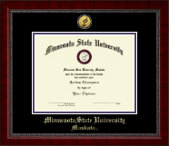 Minnesota State University, Mankato Diploma Frame - Gold Engraved Medallion Diploma Frame in Sutton