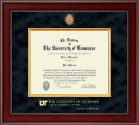 The University of Tennessee Health Science Center Memphis Diploma Frame - Presidential Masterpiece Diploma Frame in Jefferson
