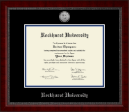 Rockhurst University Diploma Frame - Silver Engraved Medallion Diploma Frame in Sutton