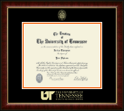 The University of Tennessee Health Science Center Memphis Diploma Frame - Gold Embossed Diploma Frame in Murano