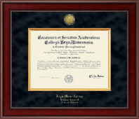 Bryn Mawr College Diploma Frame - Presidential Gold Engraved Diploma Frame in Jefferson