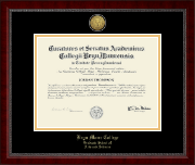 Bryn Mawr College Diploma Frame - Gold Engraved Medallion Diploma Frame in Sutton