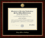 Bryn Mawr College Diploma Frame - 23K Medallion Diploma Frame in Murano