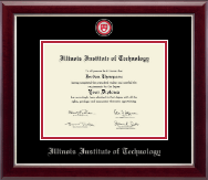 Illinois Institute of Technology Diploma Frame - Masterpiece Medallion Diploma Frame in Gallery Silver