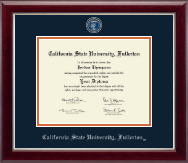 California State University Fullerton Diploma Frame - Masterpiece Medallion Diploma Frame in Gallery Silver