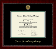 Lamar State College Orange Diploma Frame - Gold Engraved Medallion Diploma Frame in Sutton