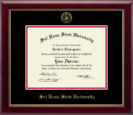 Sul Ross State University Diploma Frame - Gold Embossed Diploma Frame in Gallery