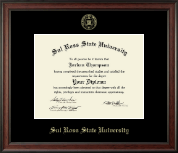 Sul Ross State University Diploma Frame - Gold Embossed Diploma Frame in Studio