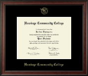 Hawkeye Community College Diploma Frame - 8.5'x11'- Gold Embossed Diploma Frame in Studio