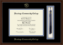Hawkeye Community College Diploma Frame - 8.5'x11'- Tassel Edition Diploma Frame in Delta