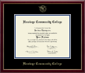 Hawkeye Community College Diploma Frame - 8.5'x11'- Gold Embossed Diploma Frame in Galleria