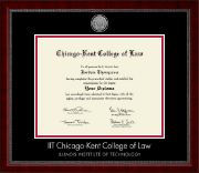 Chicago-Kent College of Law Diploma Frame - Silver Engraved Medallion Diploma Frame in Sutton
