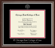 Chicago-Kent College of Law Diploma Frame - Silver Embossed Diploma Frame in Devonshire