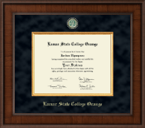 Lamar State College Orange Diploma Frame - Presidential Masterpiece Diploma Frame in Madison