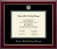 Lamar State College Orange Diploma Frame - Masterpiece Medallion Diploma Frame in Gallery