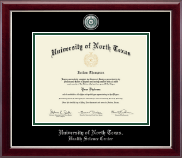 University of North Texas Diploma Frame - Masterpiece Medallion Diploma Frame in Gallery Silver