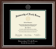 University of North Texas Diploma Frame - Silver Embossed Diploma Frame in Devonshire