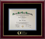 Florida Gulf Coast University Diploma Frame - Gold Embossed Diploma Frame in Gallery