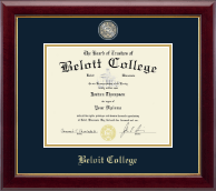 Beloit College Diploma Frame - Masterpiece Medallion Diploma Frame in Gallery