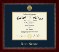 Beloit College Diploma Frame - Gold Engraved Medallion Diploma Frame in Sutton