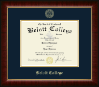 Beloit College Diploma Frame - Gold Embossed Diploma Frame in Murano